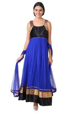Buy Fasense Exclusive Ethnic Wear Net Readymade Long Anarkali Salwar Suit Vg049 E online