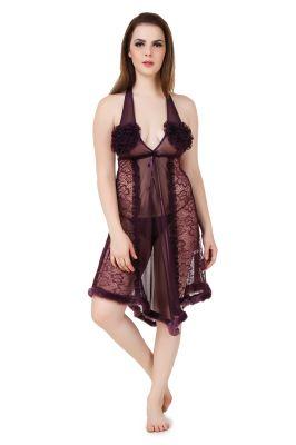 Buy Fasense Women'S Net & Lace Sexy Babydoll Slip online