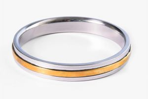 Buy Punjabi Mens Kada (stainless Steel,brass) 0.2