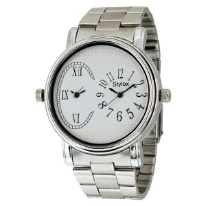 Buy Stylox White Dial Chain Analog Watch - For Men online