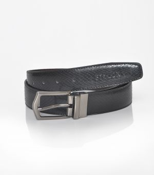 Buy Stylox Men Formal Black Genuine Leather Reversible Belt online