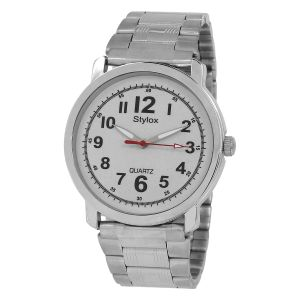 Buy Stylox White Dial Round Watch online