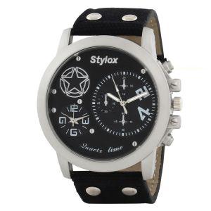 Buy Stylox Wh-stx404 Black Analog Watch - For Men online