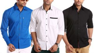 Buy Stylox Pack Of 3 Casual Shirts For Men online