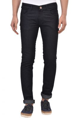 Buy Stylox Black Cotton Slim Fit Jeans online