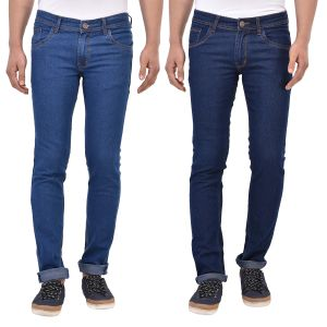 Buy Stylox Pack Of 2 Cotton Slim Fit Jeans online