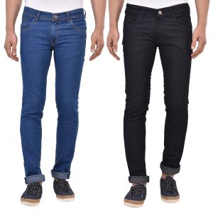 Buy Stylox Pack Of 2 Cotton Slim Fit Jeans -- online