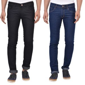 Buy Stylox Pack Of 2 Cotton Slim Fit Jeans - online