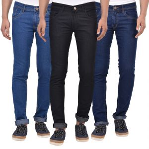Buy Stylox Pack Of 3 Cotton Slim Fit Jeans For Men online