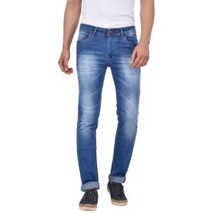 Buy Stylox Slim Fit Men's Light Blue Jeans online