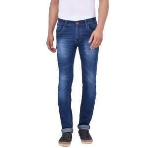 Buy Stylox Slim Fit Men's Dark Blue Jeans online