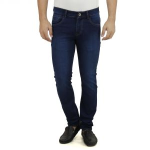 Buy Stylox Dark Blue Jeans Doby Full Lycra Slim Fit online