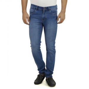 Buy Stylox Light Blue Jeans Doby Full Lycra Slim Fit online