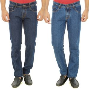 Buy Stylox Mens Set Of 2 Regular Fit Denim online