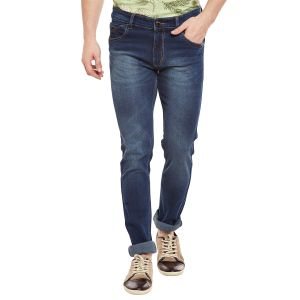Buy Stylox Men's Premium Skinny FIt Mid Rise Cleans Look Stretchable Blue Jeans online