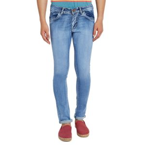 Buy Stylox Men'S Premium Stretchable Slim Fit Casual Wear Cotton Jeans-Blue online