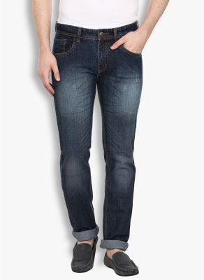 Buy Stylox Mens Dark Blue Whisker Non Strech Denim Jeans (code - Dnm-db-n-6005) online