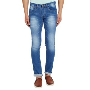 Buy Stylox Men'S Premium Stretchable Slim Fit Casual Wear Cotton Jeans-Light Blue online