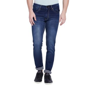 Buy Stylox Men's Premium Dark Blue Mid Rise Cleans Look Stretchable Jeans online