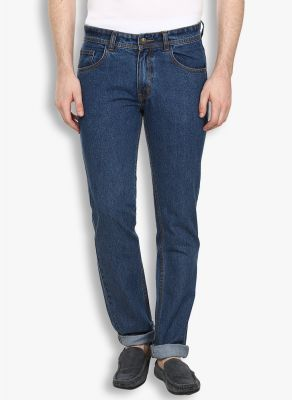 Buy Stylox Mens Medium Blue Non Strech Denim Jeans online