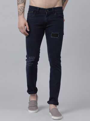 aff465c4 Buy Stylox Men Raymond Mid Rise Knee Slit Blue Jeans Online | Best ...