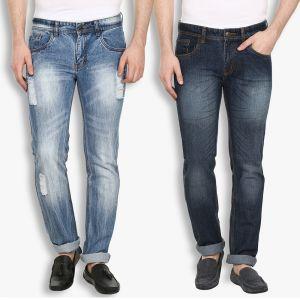 Buy Stylox Mens Stylish Cotton Blue Non Strech Denim Jeans (code - Dnn-6004-5-2dnm) online