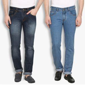 Buy Stylox Mens Stylish Cotton Blue Non Strech Denim Jeans (code - Dnn-6005-7-2dnm) online