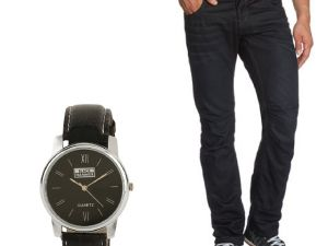 Buy Stylox Black Denim With Watch online