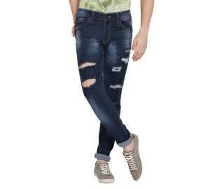 Buy Stylox Men'S Premium Stretchable Casual Wear Slim Fit Mid-Rise Highly Damaged Jeans online