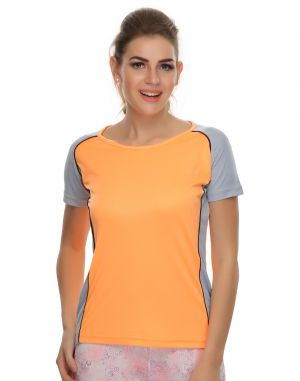 Buy Clovia Polyester Blended Lightweight Stretchy Dri-fit Sports T-shirt (product Code - At0011p16 ) online