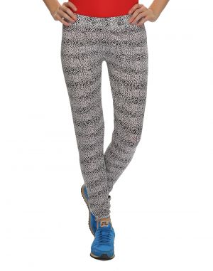 Buy Clovia Polyamide, Spandex Stretchy High Rise Tights In Animal Prints (product Code - At0016p13 ) online