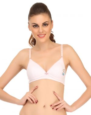 Buy Clovia Lightly Padded Teenage Bra In White Bb0002p18 online