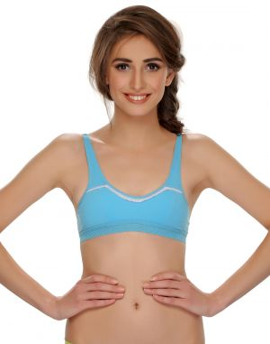Buy Clovia Cotton Blend Cotton Blended Comfy Teenage Bra online