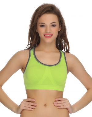 Buy Clovia Racerback Padded Sports Bra In Green -(product Code-br0418p11) online