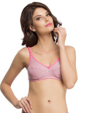 Buy Clovia Pink Printed Bra Br0471p14 online