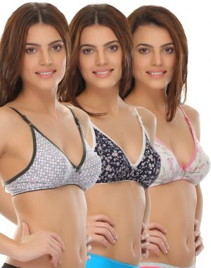 Buy Clovia Cotton Fashionable Everyday Printed Bra In Cotton online