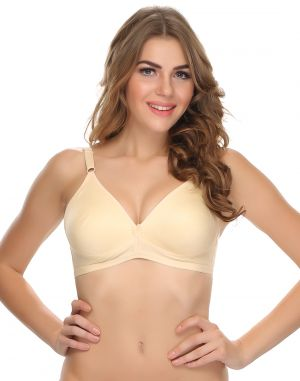Buy Clovia Cotton Blended Double Layered Plus Size T-Shirt Bra In Cotton online