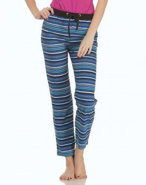 Buy Clovia Comfy Printed Pyjama With Contrast Waist Band Lb0017p13 online
