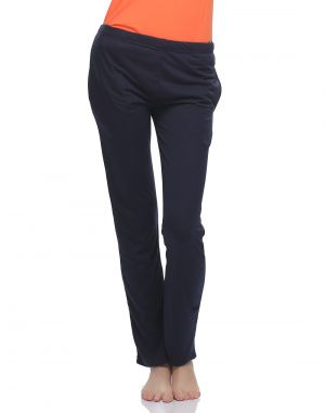 Buy Clovia Soft Cotton Solid Pyjama In Navy Blue Lb0019p08 online