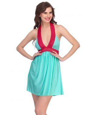 2f7173f914 Buy Clovia Light Green Short Nightdress Online