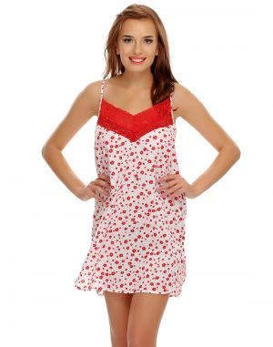 Buy Clovia Floral Lacy Cute Nightdress online