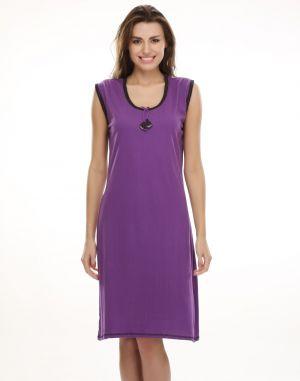 Buy Clovia Purple Cute Short Nighty Ns0394p15- Free Size online