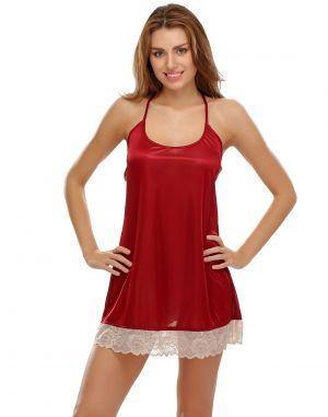3d5afeb88 Buy Clovia Sexy Lacy Babydoll In Maroon Online