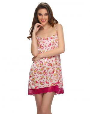 42f2f01dad3f Buy Clovia Short Nightdress In Dark Purple Online