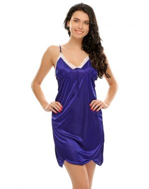 Buy Clovia Royal Blue Sexy Short Nightdress online