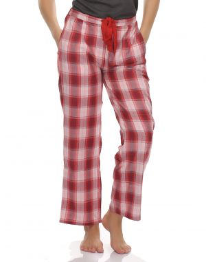 Buy Clovia Cottswool Warm Full Pyjama With Funky Checks online