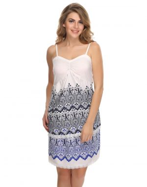 Buy Clovia Crepe Sexy Cami & Skirt Set In Fairy White online