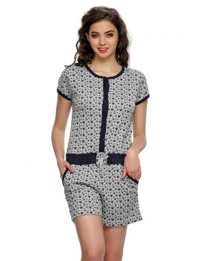 Buy Clovia Funky Printed Warm Jumpsuit In White Ns0523p18 online