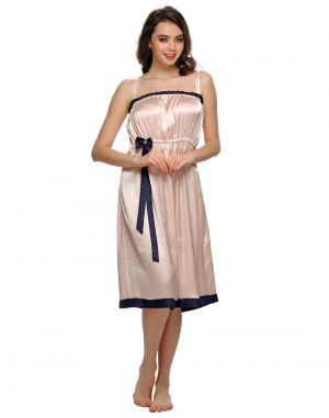 Buy Clovia Sexy Short Nightdress In Peach Ns0543p16 online