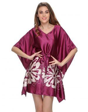 Buy Clovia Sexy Purple Kaftan Style Nightwear Ns0578p15 online